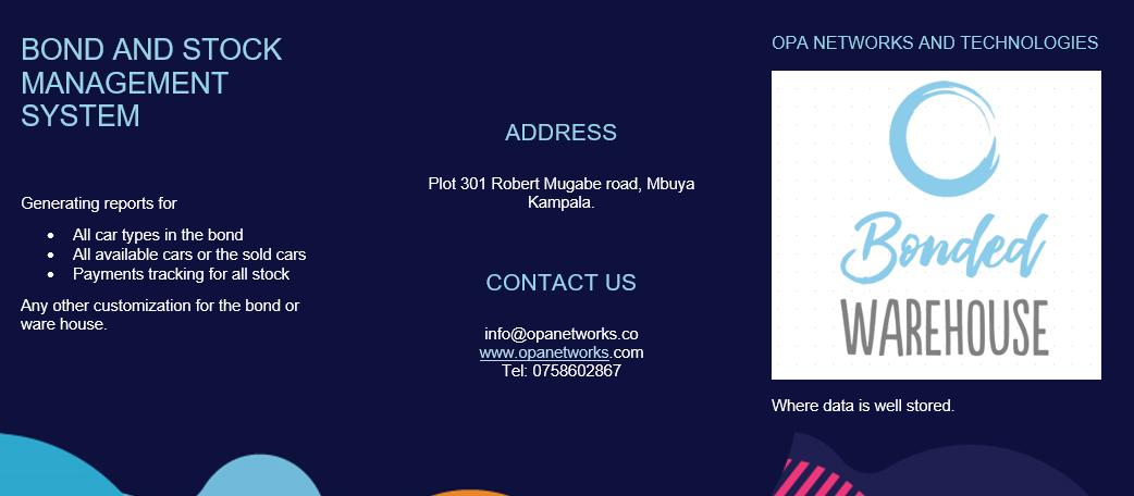 Opanetworks bond management system